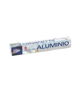 Rollos de papel de aluminio de 8 metros. Caja de 24 rollos.