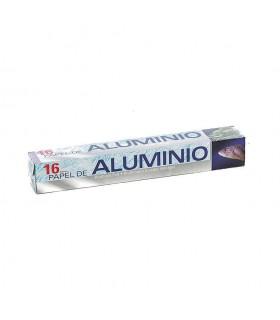 Rollos de papel de aluminio de 16 metros. Caja de 24 rollos.