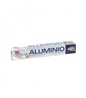 Rollos de papel de aluminio de 30 metros. Caja de 24 rollos.