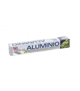 Rollos de papel de aluminio de 50 metros. Caja de 24 rollos.