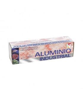 Rollo de papel de aluminio industrial con sierra. 1 rollo de 2 kg.
