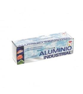 Rollo de papel de aluminio industrial con sierra. 1 rollo de 2,4 kg.