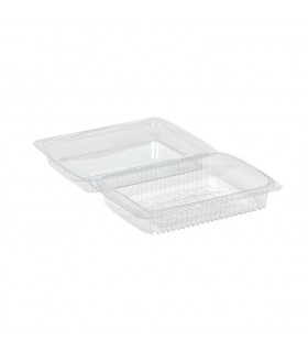 Envase para pastas transparente hermético. Pequeño. 188x138x50 mm. Caja de 350 uds.