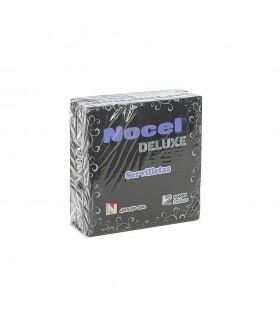 "Servilletas de 2 capas ""Deluxe"" de 40x40 cm. Negras. Caja de 30 paquetes de 36 uds."