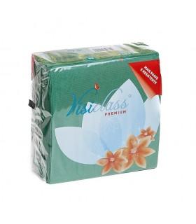 "Servilletas de 2 capas ""Visiclass"" de 40x40 cm. Verde oscuro. Caja de 24 paquetes de 50 uds."