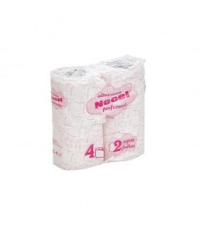 """Papel Higiénico """"Nocel"""" de 2 capas perfumado. Fardo de 27 paquetes de 4 rollos."""