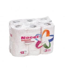 """Papel Higiénico """"Nocel"""" de 2 capas perfumado. Fardo de 9 paquetes de 12 rollos"""