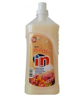 """Suavizante concentrado deluxe """"IN"""" 1,5 L. Caja de 12 botellas."""