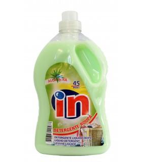 """Detergente para la ropa con aroma a aloe vera """"IN"""" 2,9 L. Caja de 4 botellas."""