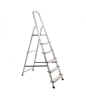 Escalera de aluminio de 6 peldaños