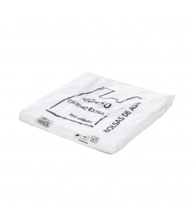 Bolsas blancas de plástico Asa Camiseta 40x50 cm. Paquete de 200 uds.