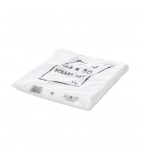 1 kilo de Bolsas blancas de plástico Asa Camiseta 35x50 cm.