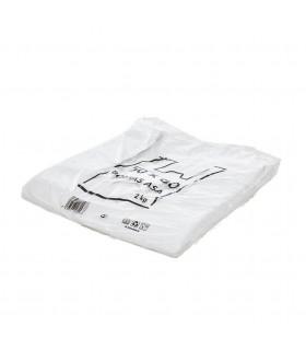 2 kilos de Bolsas blancas de plástico Asa Camiseta 50x60 cm.