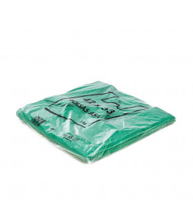 1 kilo de Bolsas verdes de plástico Asa Camiseta 42x53 cm.