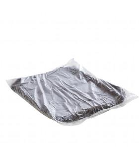 Bolsas de plástico marrón de asa troquelada 25x35 cm. Paquete de 250 uds.