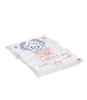 1 kilo de Bolsas blancas de plástico Mercado 27x35 cm.
