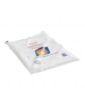 1,5 kilos de Bolsas de plástico Mercado 27x35 cm. Blancas